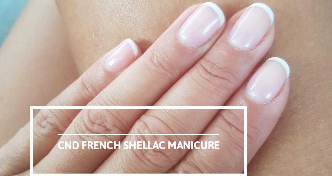 CND Shellac hænder, fransk - inkl. aftagning