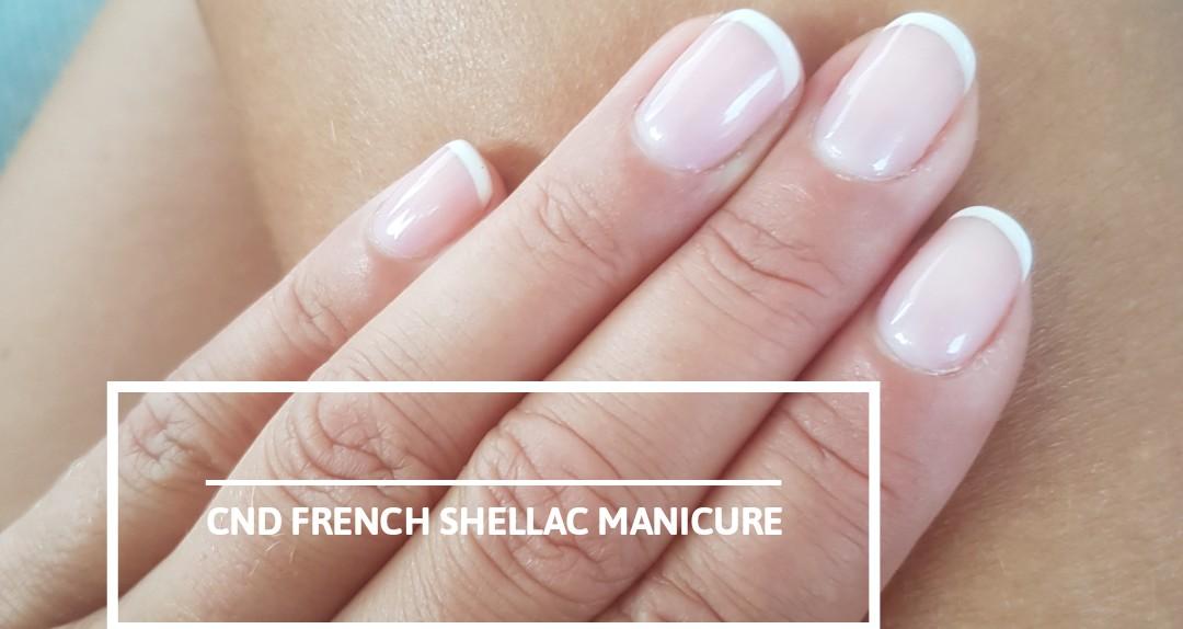 CND Shellac hænder, fransk - uden aftagning